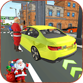 Santa Gift Delivery : Highway Car Driving Games