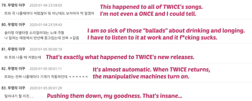 twice comments