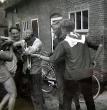 Photo: JG kamp Lemele 1962 Geert Enting, Hendrik Hoving, Piet Dijkstra en Hendrik Speelman