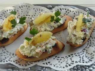Grilled Pineapple And Bacon Blue Cheese Bruschetta Recipe