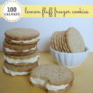 100 Calorie* Lemon Fluff Freezer Cookies.