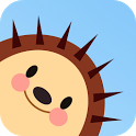 Hedgy Pop. Hedgehog balloons icon