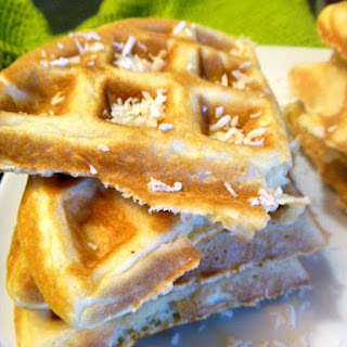 Tropical Coconut Lime Waffles.