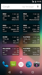 Precious Metals Price Widget- screenshot thumbnail