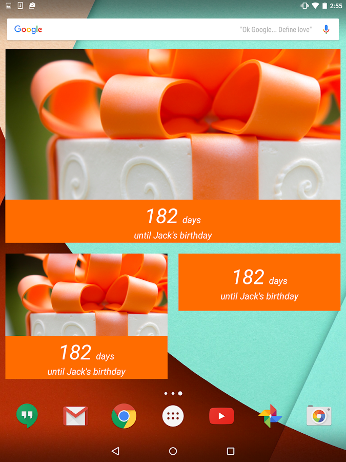 Birthday Countdown Widget- screenshot