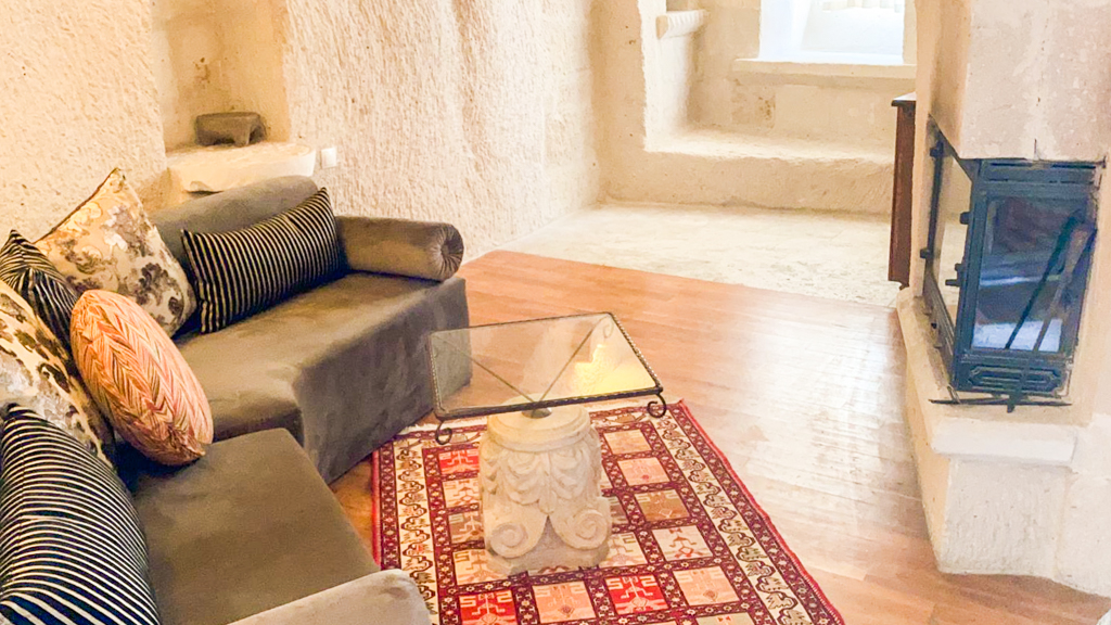 Anatolian Houses Cave Hotel fireplace