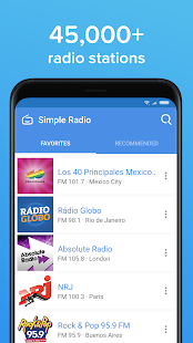 Simple Radio – Free Live AM FM Radio & Music App Screenshot