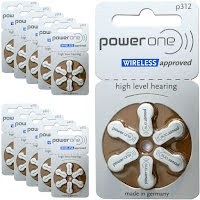 312 60-Pack VARTA PowerOne P312 - Hörapparatsbatterier