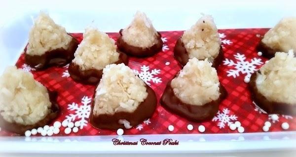 ~ Christmas Coconut Peaks ~ Recipe