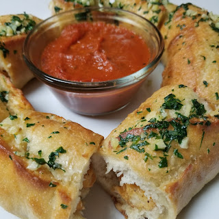 Chicken Stuffed Garlic Bread.