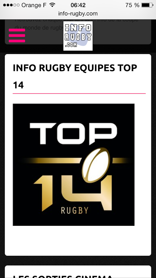 INFO RUGBY- screenshot