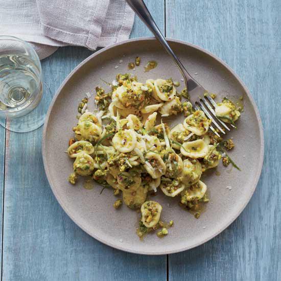 Orecchiette with Pistachio Pesto