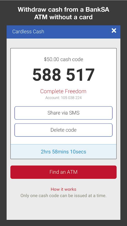 BankSA Mobile Banking - screenshot