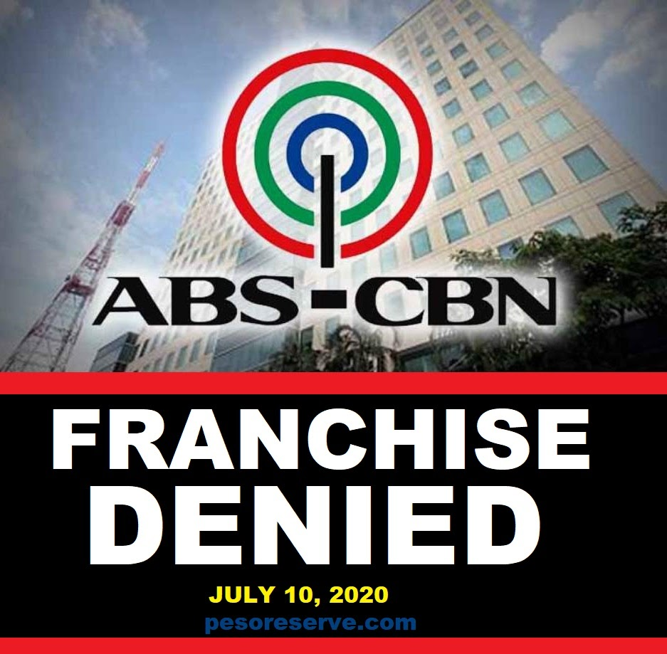 ABS-CBN Franchise Application Denied
