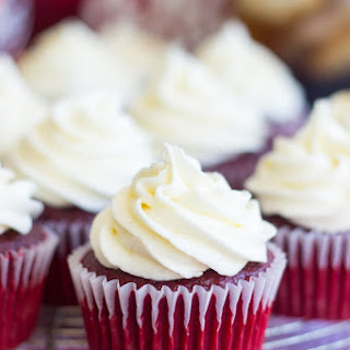 Dr Pepper Red Velvet Cupcakes with Cream Cheese Frosting