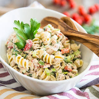Simple Tuna Rotini Salad.