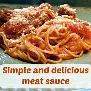 Meat Sauce.