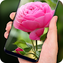 Pink Rose Live Wallpaper HD Phone Background icon
