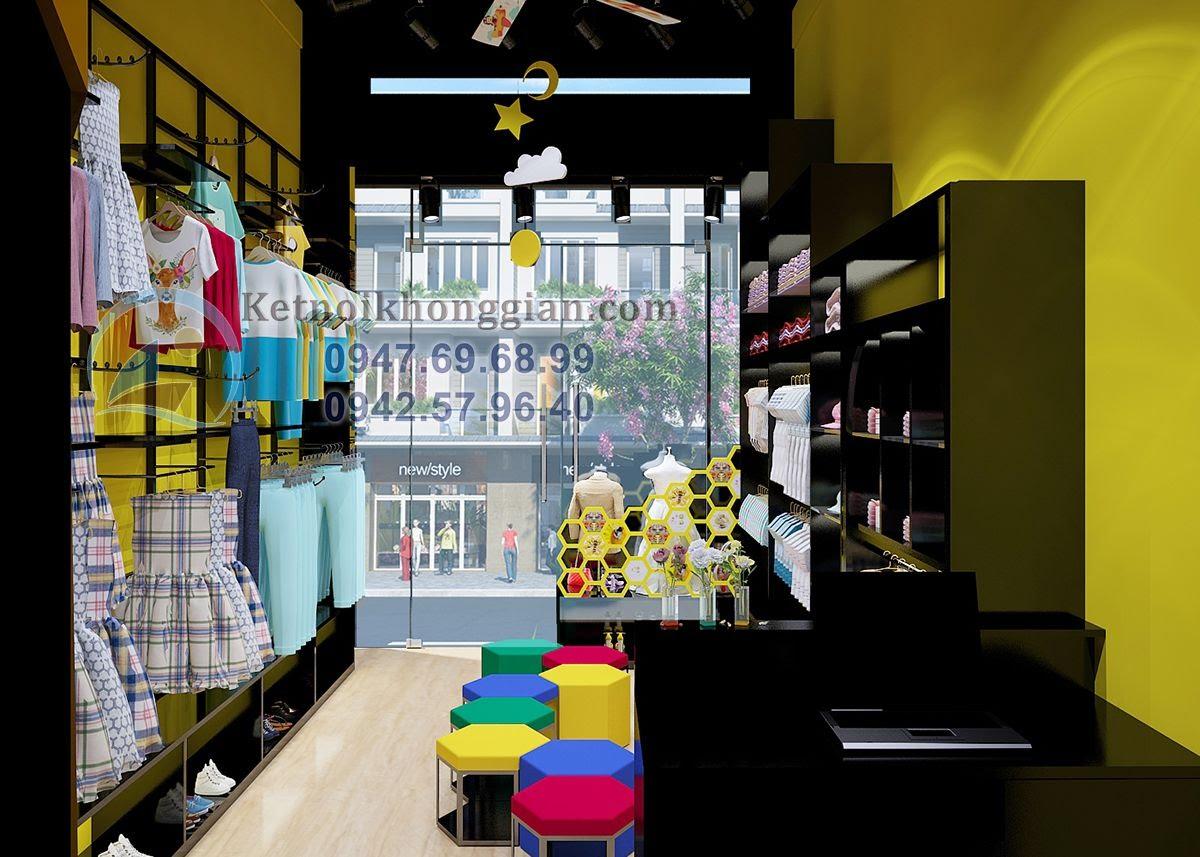 thiết kế shop thời trang trẻ em cao cấp