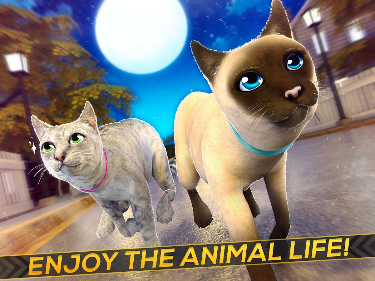 Meow Cute Kitty Cat 🐈 Puppy Love Pet Simulator Android Apps on