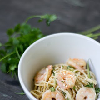 Cold Spicy Noodles with Shrimp