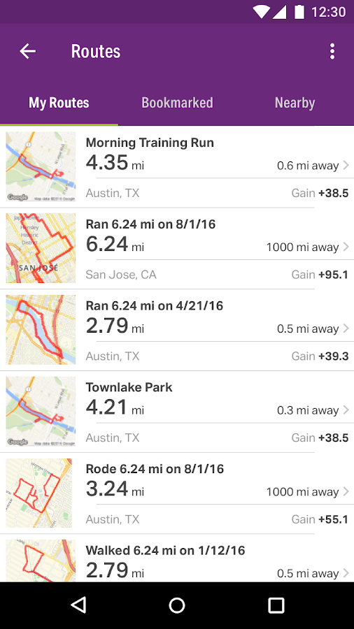 Screenshots of Map My Walk+ GPS Pedometer for iPhone