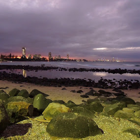 Sunday Sunset, Burleigh Heads, Australia by Di Mc - Novices Only Landscapes ( water, burleigh heads, waves, sunset, australia, ocean, beach, dusk )