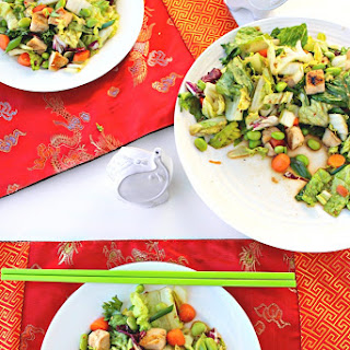 Asian-Inspired Chicken Salad with Almond-Sesame Dressing