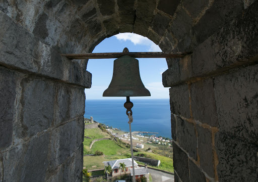 Brimstone-Hill-Fortress-bell.jpg - Bell at Brimstone Hill in St. Kitts, the largest and best preserved fortress in the Caribbean.