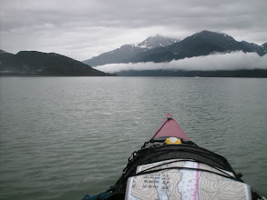 Photo: Taiya Point ahead with Taiya Inlet and Mount Villard in the distance.