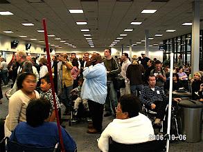 Photo: Airport queues.  LAX.