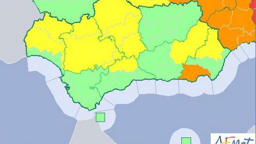 Mapa actualizado de la Agencia Estatal de Meteorología.