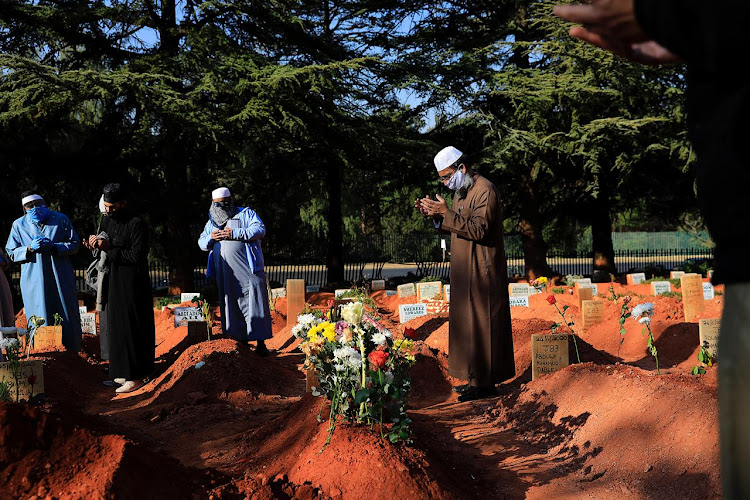 As South Africa tries to contain the spread of the virus, funerals are allowed to have a maximum of 50 people attending.