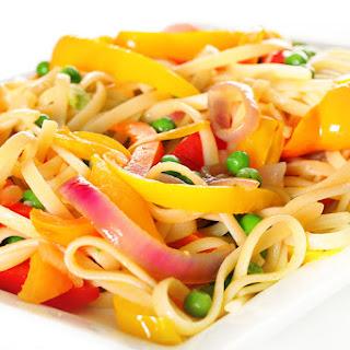 Linguine Pasta with Vegetables.