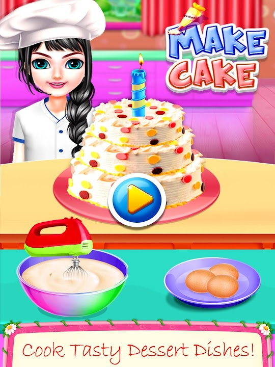 Incredible Download Real Cake Making Bake Decorate Cooking Games 2020 For Funny Birthday Cards Online Eattedamsfinfo
