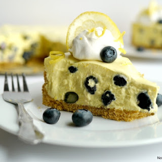 No Bake Creamy Lemon-Blueberry Pie.