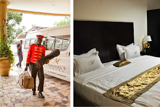Photo: A friendly face and comfortable bed at our one night stop over at Mikhael's Hotel in Brazzaville