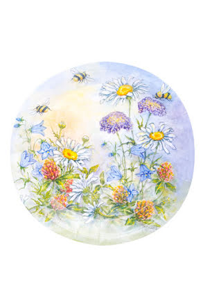 Tallrikar, blomster