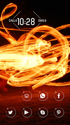 android Dancing flames Screenshot 0