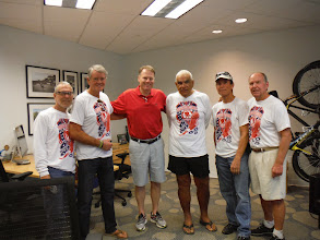Photo: Trek Factory Tour  Team photo with John Burke in his office