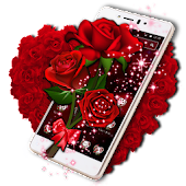 Sparkle Red Rose Theme