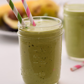 Rich and Creamy Banana Avocado Pear Smoothie {with FREE Printable}