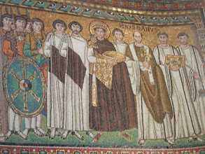 Photo: Maximilian, East Roman Emperor, with court officials