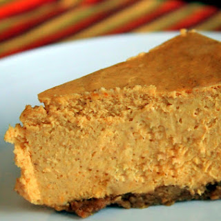 Pumpkin Ginger Cheesecake - low or no added sugar