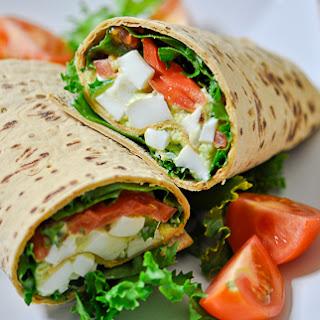 Avocado Egg Salad Wraps.