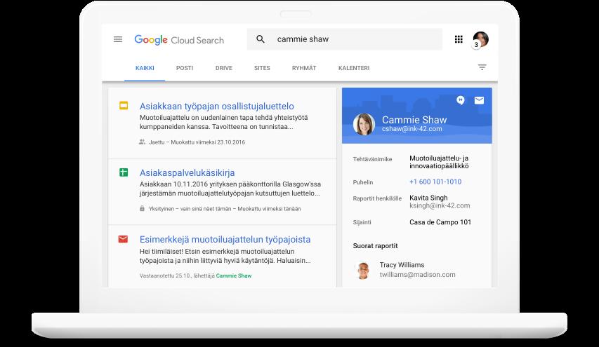 Hae kaikista GoogleWorkspace ‑tuotteista