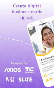 HiHello: Digital Business Cards & Contact Manager Screenshot