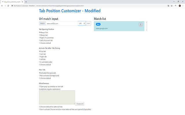 Tab Position Customizer - Modified