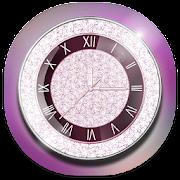 Purple Diamond Clock