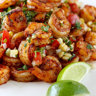 Mexican Grilled Shrimp with Corn Salsa